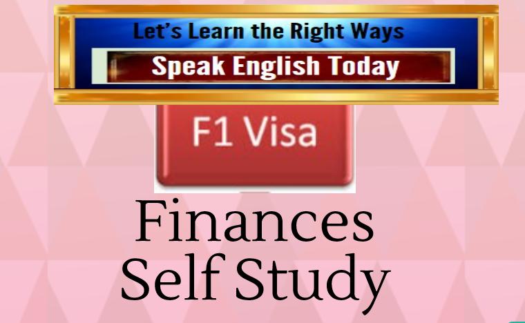 F1 Visa Finances Course